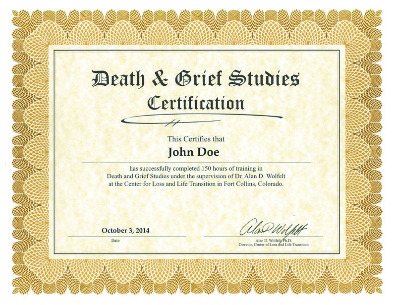 certification center for loss life transition