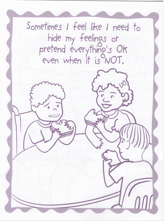 - How I Feel - A Coloring Book For Grieving Children