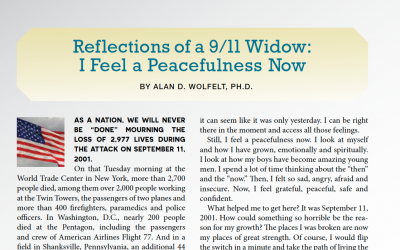 Reflections of a 9/11 Widow: I Feel a Peacefulness Now